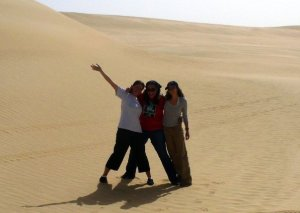 K-Funny, Tara and me in the Western desert