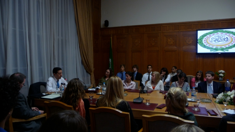 Northeastern students, Journalism and Arabic language at Arab League