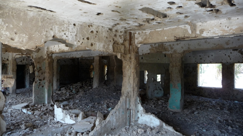 The inside of a Syrian hospital