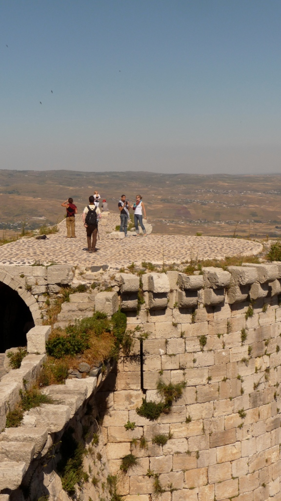 Part of my group takes in the view a top the castle