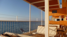 Deck at the Taba-Eliat border crossing